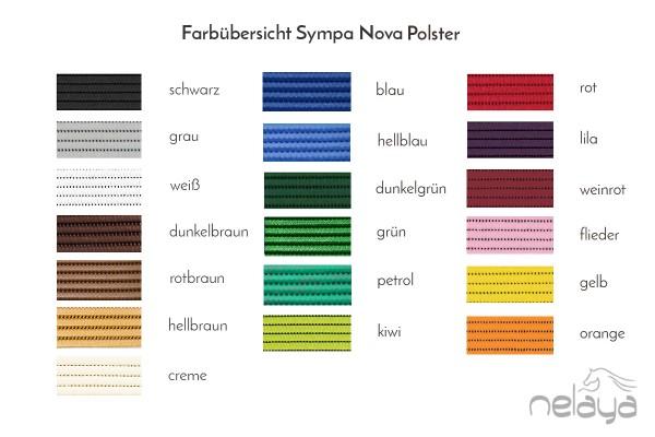 Sympa Nova Farbmuster - drei Farben nach Wahl