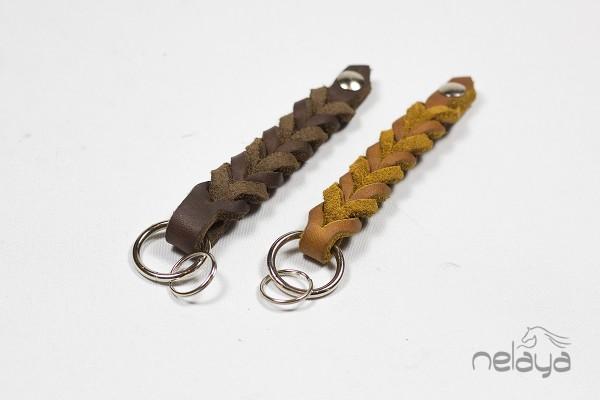 Fettleder Schlüsselanhänger geflochten - GRATIS ab 75€ Bestellwert